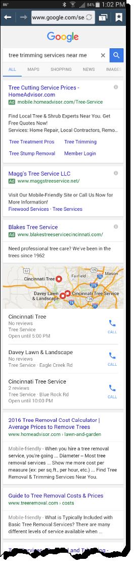 Search Engine Marketing vs Optimization mobile